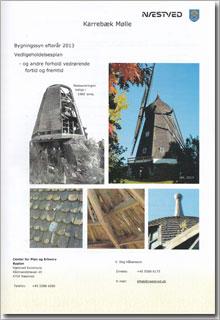Illustration. Forsiden af rapport over bygningssyn af Karrebæk Mølle fra 2013